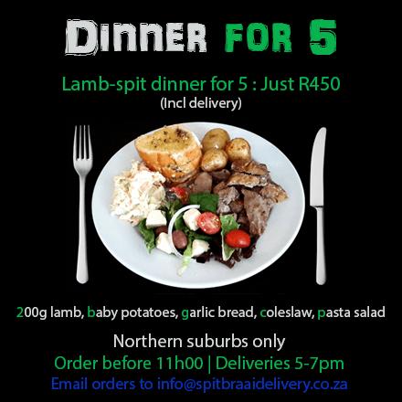 dinner for 5