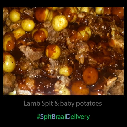 Lamb spit and baby potatoes