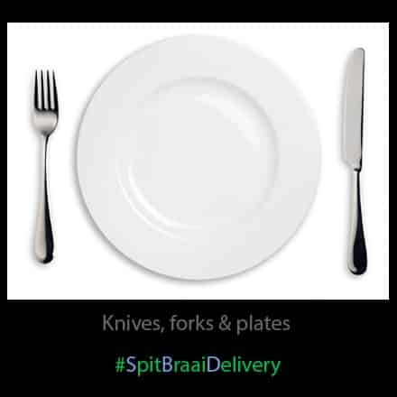 knives forks plates bowls and spoons