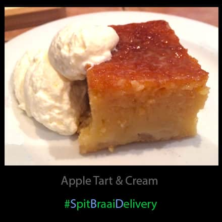 apple tart & cream