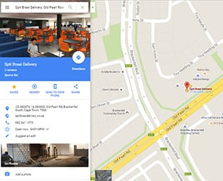 Google map image of our spit braai sports pub location in brackenfell cape town