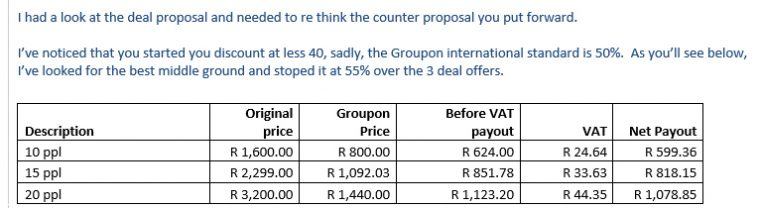 Groupon Spit Braai Deal